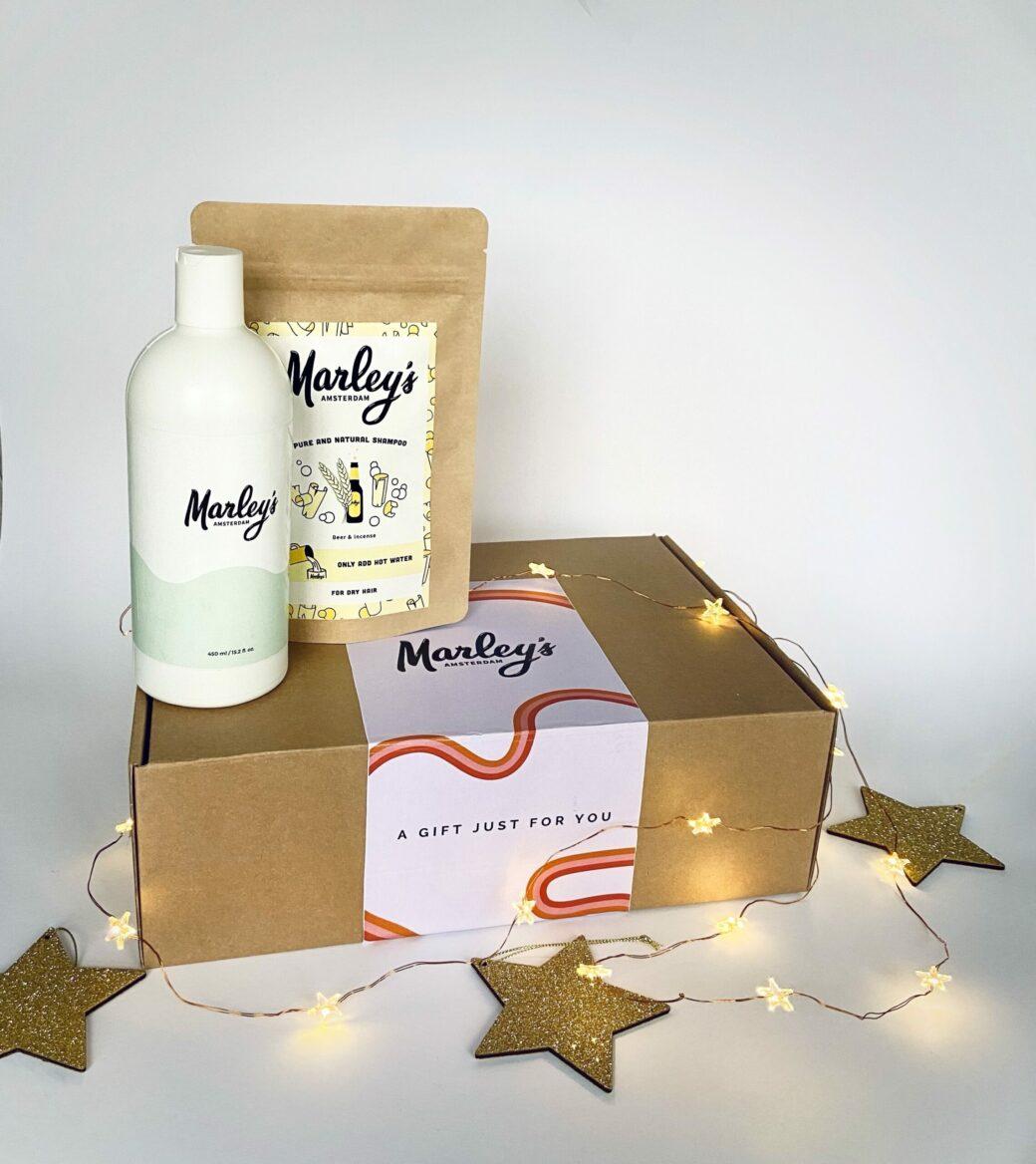 Marley's Amsterdam Cadeaubox | herbruikbare fles + shampoo naar keuze.